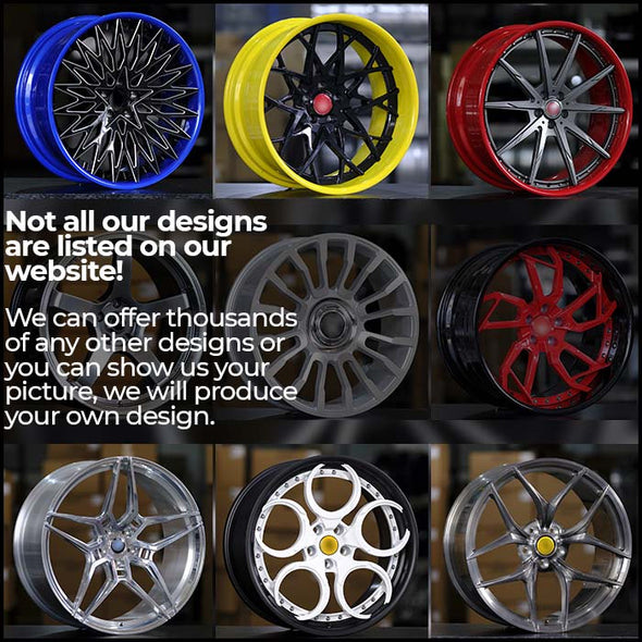 "FORGED WHEELS Monoblock for Any Car,  (size from 18"" to 24"" inch)  A30"