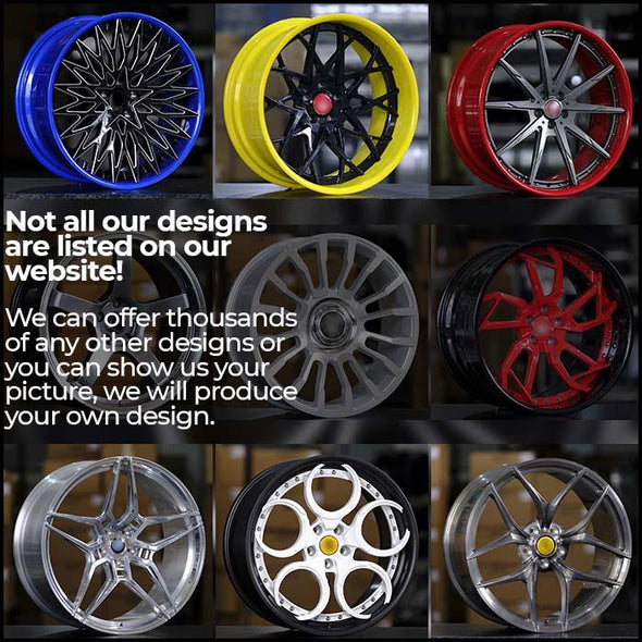 "FORGED WHEELS Monoblock for Any Car,  (size from 18"" to 24"" inch)  A176"