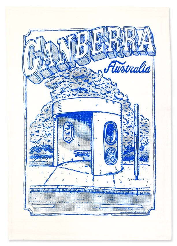 canberra tea towel