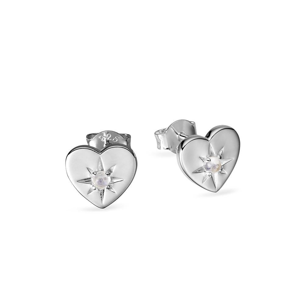 enchanted heart studs