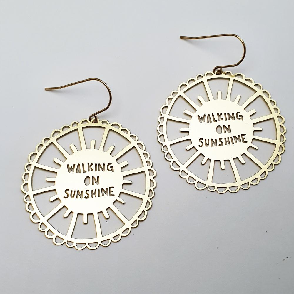 walking on sunshine earrings