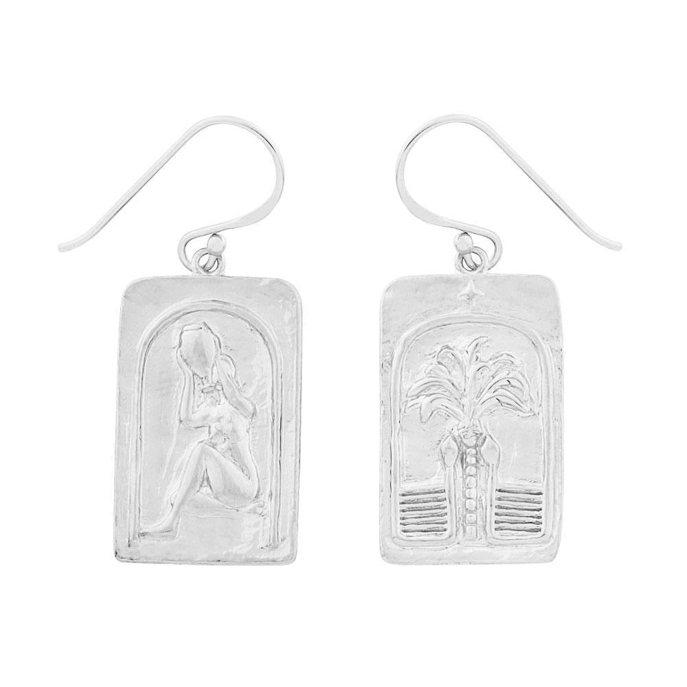 love over fear earrings silver