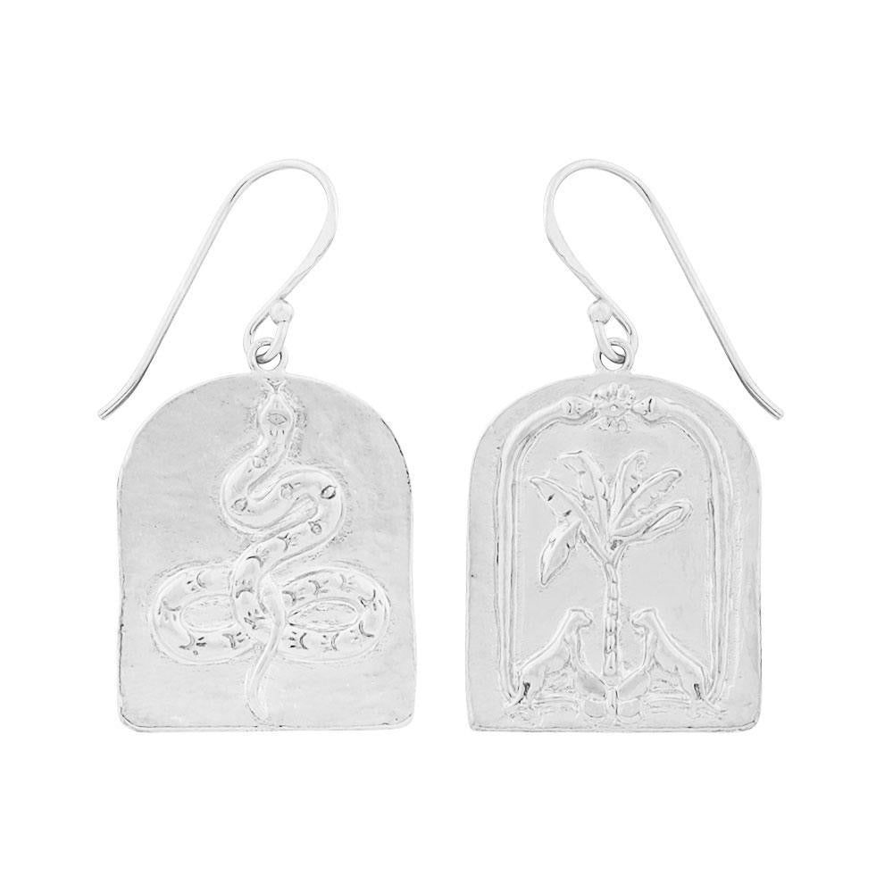 face yourself or run earrings silver