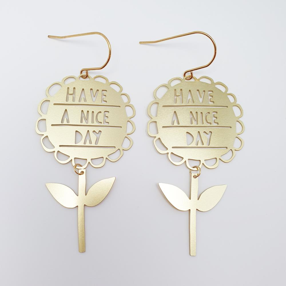 have a nice day earrings