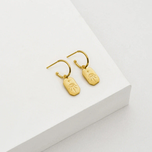 protection amulet earrings gold