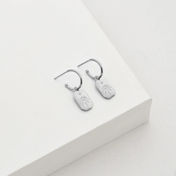 protection amulet earrings silver