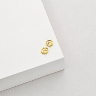 helix studs gold