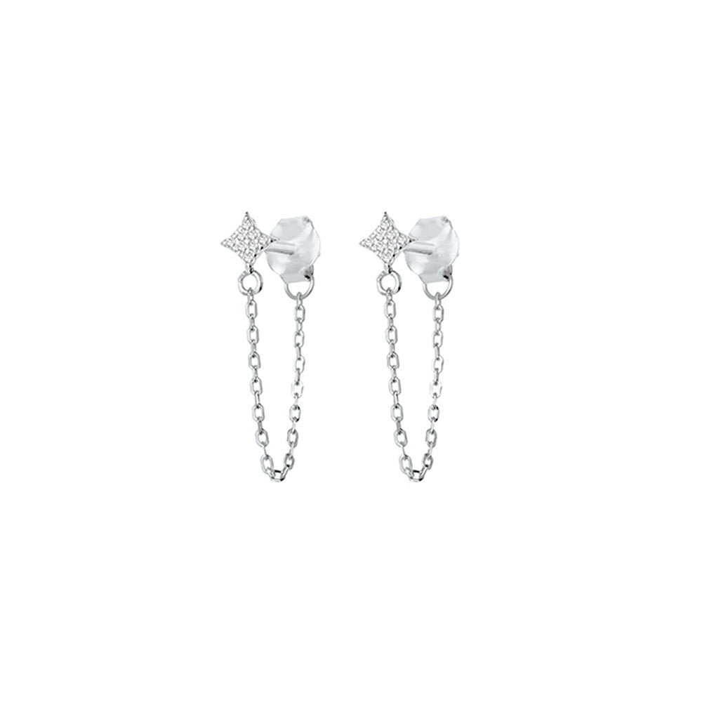 chained star studs