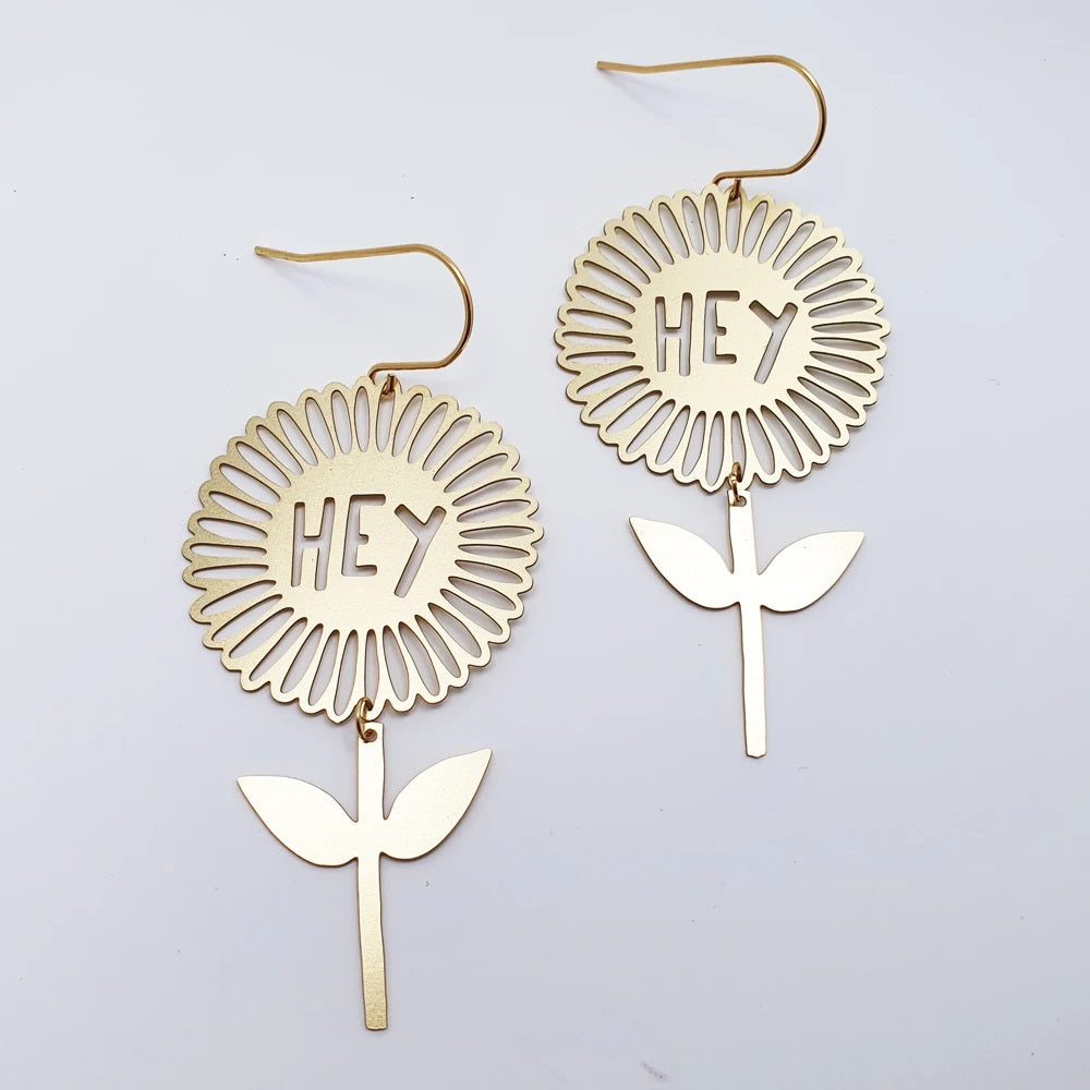 hey flower earrings
