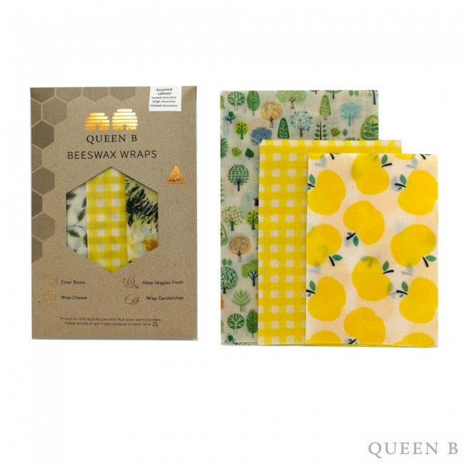 beeswax wraps assorted pack 3