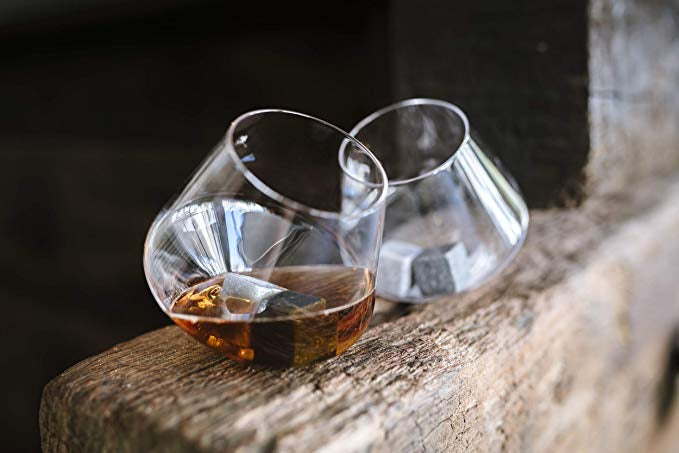 rocking whiskey glasses set 2