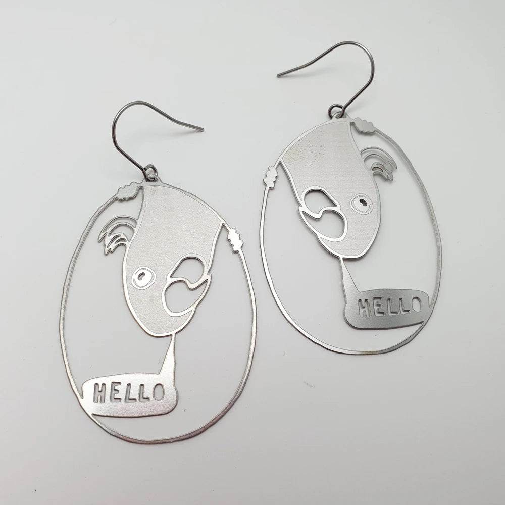 hello cocky earrings