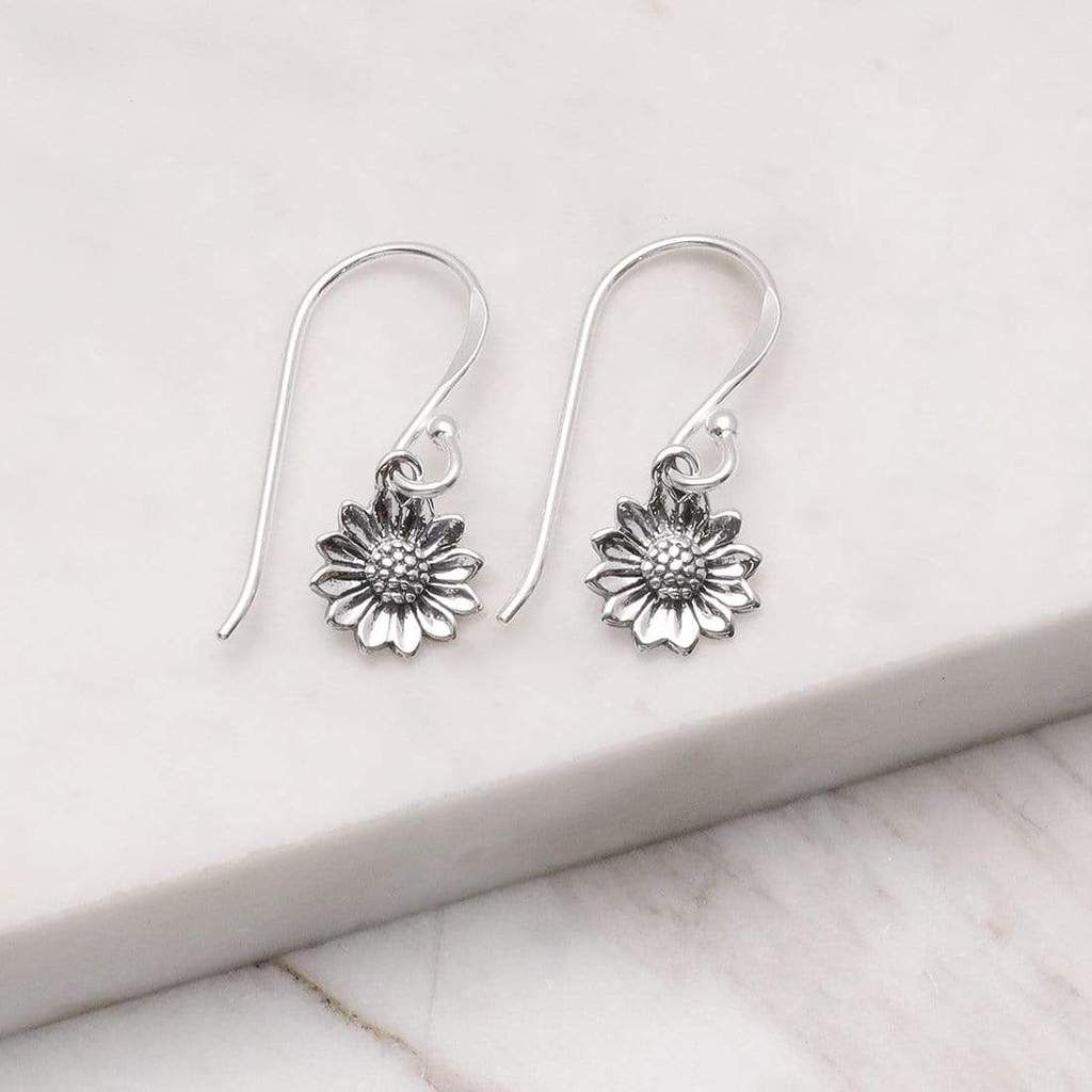 delicate sunflower earrings