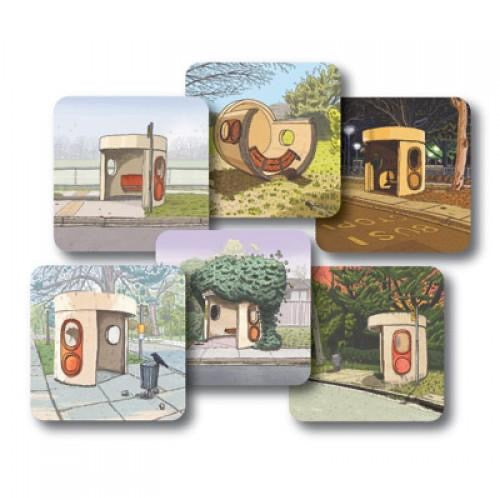 bus shelter coaster set