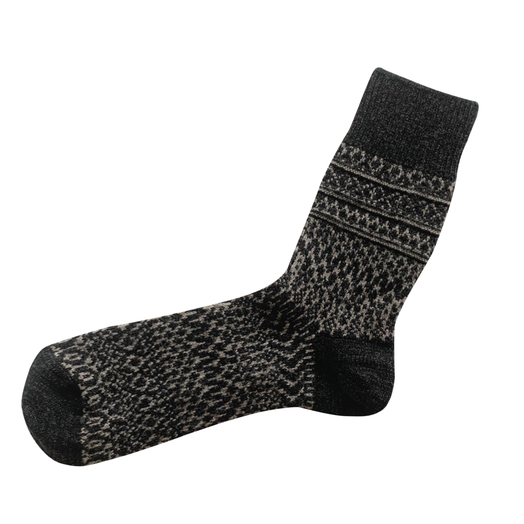 oslo wool jacquard socks