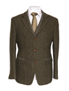 Casement Classic Fit Irish Tweed Blazer - Green