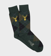 Argyle & Stag Merino Wool Sock - Forest