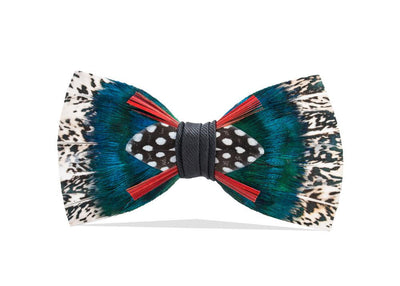 Arbor Bow Tie - Pheasant, Peacock & Guineafowl Feathers