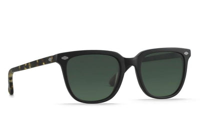 Arlo - Matte Black & Matte Brindle Tortoise_ Green Polarized