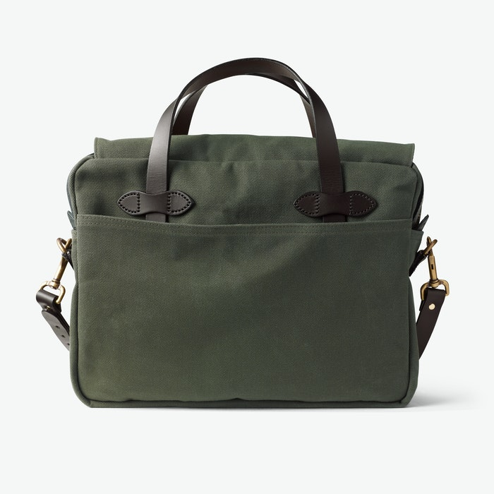 Original Briefcase in Rugged Twill - Otter Green