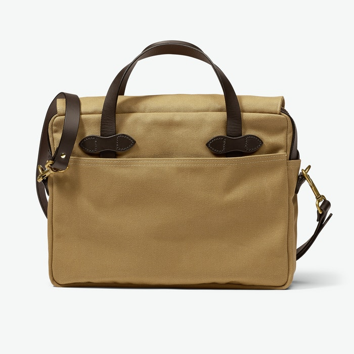 Original Briefcase in Rugged Twill - Tan