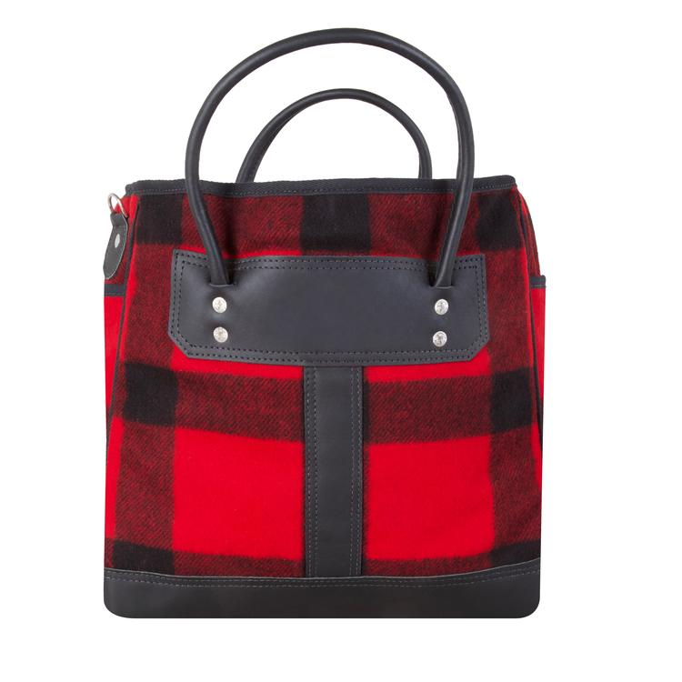 Classic Buffalo Plaid Wool Sportsman's Tote