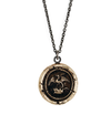 Bronze Talisman Necklace - Dragon in Crown