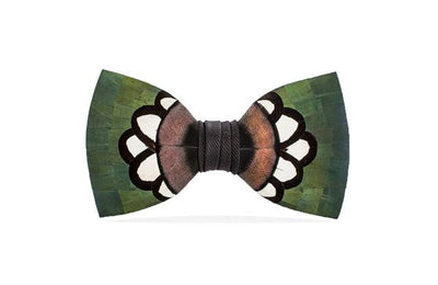 Hanna Bow Tie - Pheasant & Turkey Feathers