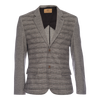 Kurt Notched Lapel Stretch Blazer - Houndstooth Pattern Block