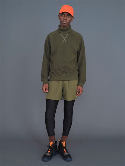 Charles Sweatshirt Turtleneck - Olive