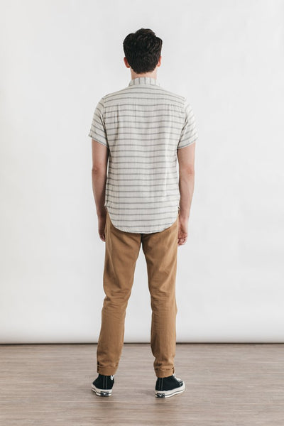 Jordan Striped Doublecloth Short Sleeve