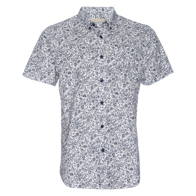 Truman Short Sleeve Floral - White & Navy