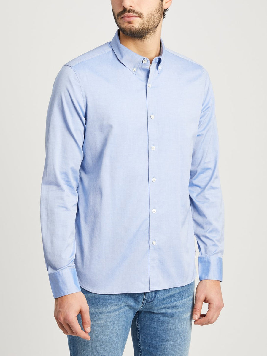 Fulton Pinpoint Oxford Shirt - Blue