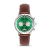 Racing Chrono - SS Green Dial - Brown Leather Strap