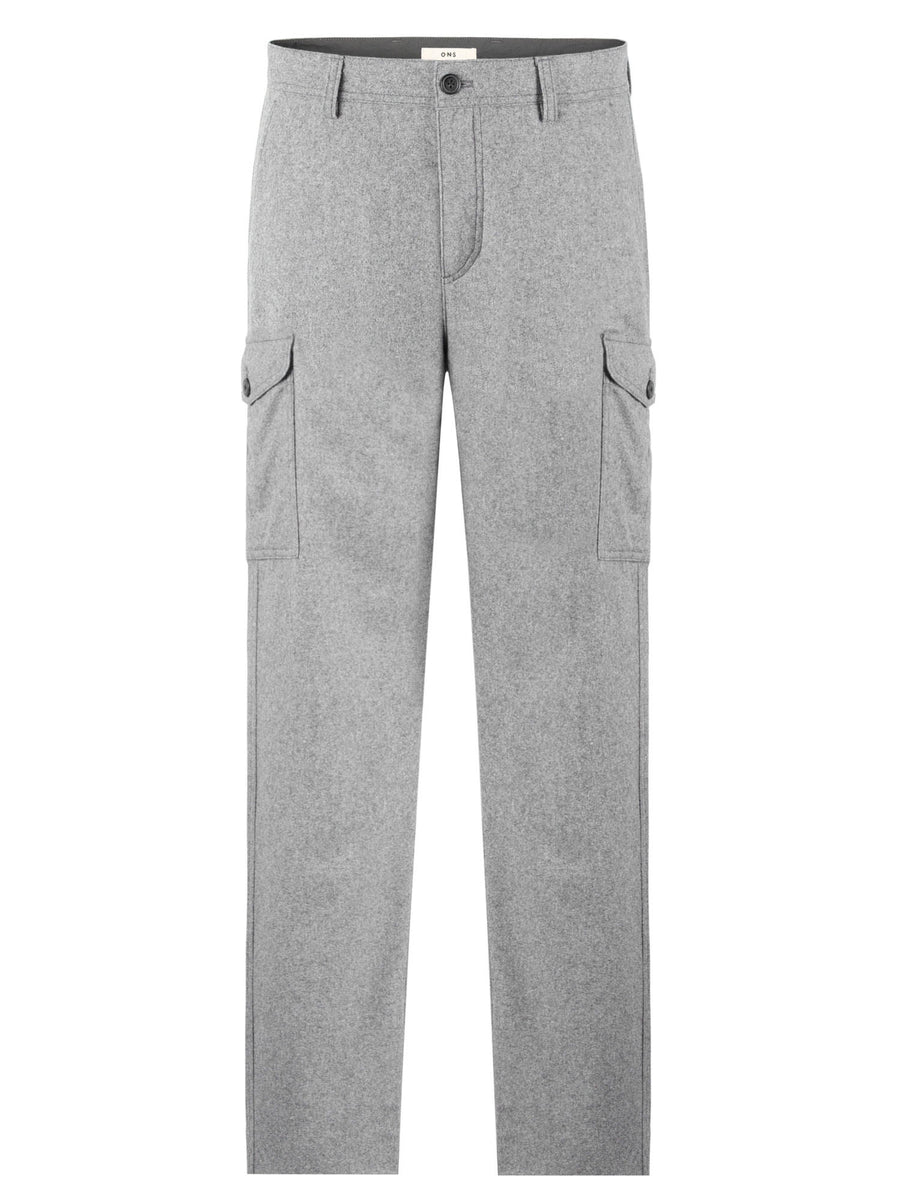 Wool Cargo Pant - Lt. Grey