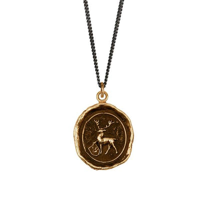 Bronze Talisman Necklace - Stag Kinship