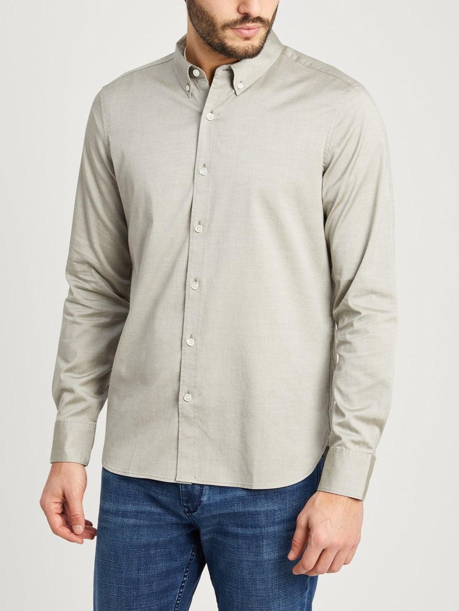 Fulton Pinpoint Oxford Shirt - Olive