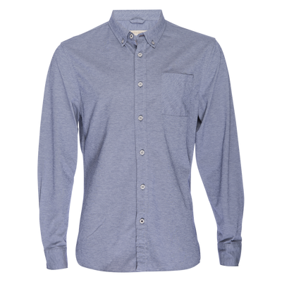 Truman Button Collar Oxford - Blue