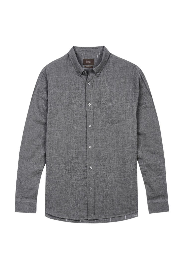 Double-Face Button-up - Charcoal