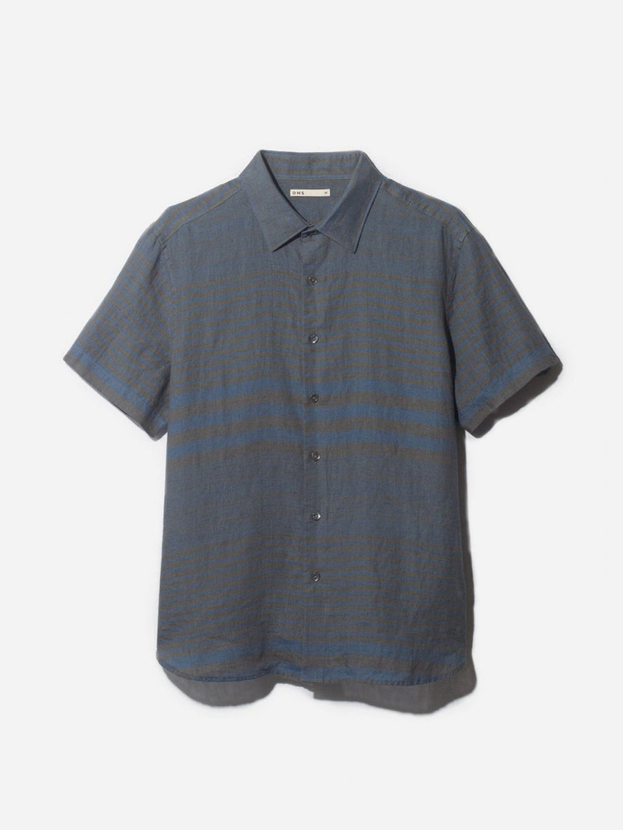 Adrian Stripe Short Sleeve - Blue