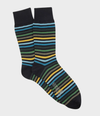 Striped Merino Wool Sock - Navy