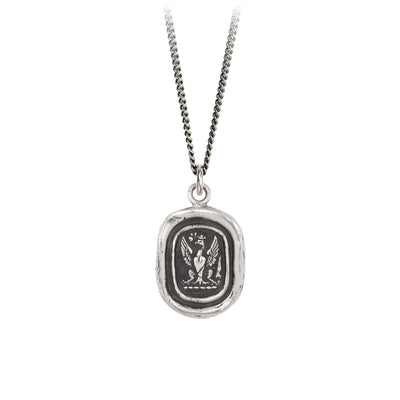 Sterling Silver Talisman Necklace - Follow Your Dreams