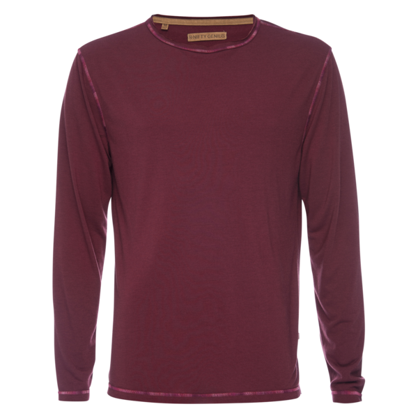Ryan Raw Seam Ombre Stich Crew - Magenta