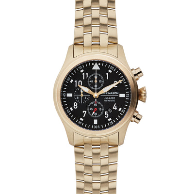 Aviation Chrono YG - Black Dial - YG Bracelet