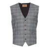 Albert Stretch  Vest - Gray Plaid