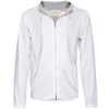 Hooded Zip Beach Jacket - White