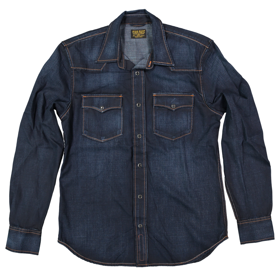 Garth Snap Front - Dark Wash