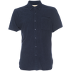 Truman Short Sleeve Stretch Terry Button-up - Navy