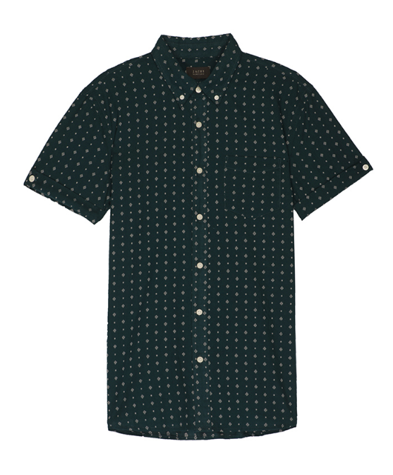 Diamond Stretch S/S Shirt - Emerald