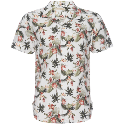 Truman Camp Shirt - Seersucker Island Palm Print